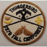 Bsa Boy Scout Uniform Patch Thunderbird Fall 1978 Camporee