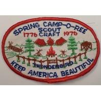 Bsa Boy Scout Uniform Patch Spring Camporee Scout Craft Thunderbird 1976