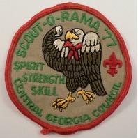 Bsa Boy Scout Uniform Patch Central Georgia Council Eagle Scout-O-Rama 1977