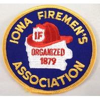 Iowa Firemen'S Fireman Association Organized 1879 If Uniform Patch #Fd-Yl