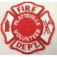 Fire Department Platteville Volunteer Uniform Patch