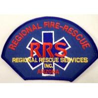 Regional Fire Rescue Rrs Arizona Uniform Patch #Fd-Bl