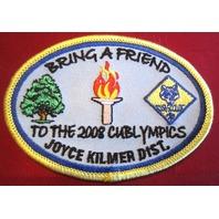 Bsa Boy Scout Uniform Patch Bsa Bring A Friend 2008 Cub Olympics Joyce Kilmer