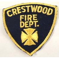 Crestwood Fire Department Uniform Patch #Fd-Yl