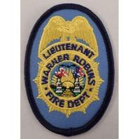 Lieutenant Warner Robins Fire Department Uniform Patch #Fd-Bl