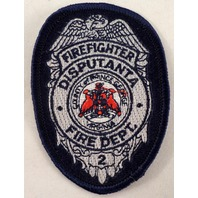 Firefighter Disputanta Fire Dept County Of Prince George Uniform Patch #Fd-Bl