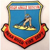 High Angle Rescur Bear River Fire Department Dept Uniform Patch #Fd-Bk