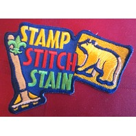 Bsa Boy Scout Uniform Patch Bsa Stamp Stitch Stain Cub Scout