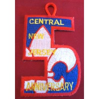 Bsa Boy Scout Uniform Patch Bsa Central Jersey Anniversary 5Th Fleur Di Lis