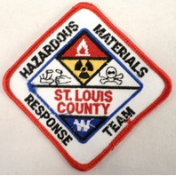 Hazardous Materials Technician St. Louis County Response Uniform Patch #Fd-Rd