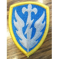 Us. Military Uniform Patch Monument Wwii Blue And Gold