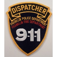 Dispatcher 9-1-1 Franklin Police And Fire Department Uniform Patch #Pd-Yl