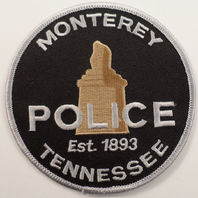 Monterey Police Tennesswee Est 1893  Uniform Patch #Pd-Wh