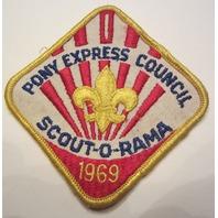 Boy Scout Vintage Patch Pony Express Council 1969 Scout O Rama