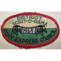 Boy Scout Vintage Patch Pony Express Council 1964 Scout-O-Rama District