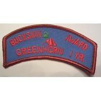 Boy Scout Vintage Patch  Buckskin Award Greenhorn 1Yr