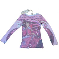 Girls New TruLuv  Sz XS Sequin Butterfly Long Sleeve Shirt NWT
