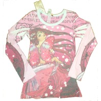 Girls New TruLuv  Sz XS Sequin Butterfly Long Sleeve Shirt NWT