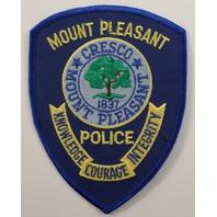 Mount Pleasant Police Cresco Knowledge Courage Integrity  Uniform Patch #Pd-Bl