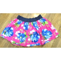 Nwt Logo Hollister Womens/Jrs Sassy Pink Blue Flower Skirt Lined