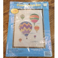 New Creative Moments Hot Air Balloons 12X16 Candlewicking Kit #8303 1983