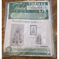 New Sealed Crewel Embroidery Kit Paragon Needlecraft Wall Hanging Kit 0527 Tree