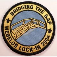 Bridging The Gap Webelos Lock-In 2004 Vintage Uniform Patch