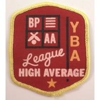 Yba Aa League High Average Vintage Uniform Patch