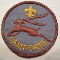 Boy Scouts Of America Bsa Vintage Bounding Leaping Deer Fleur Di Lis Camporee