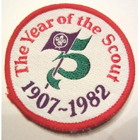 Bsa Boy Scout Uniform Patch The Year Of The Scout 1907-1982