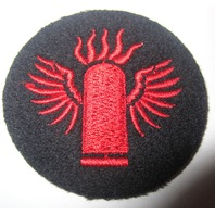 """Usn Navy Distinguishing Mark: 2""""Bomber Bomb Navy And Red Us Military Patch"""