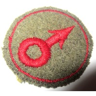 Military Uniform Patch Green Back  Male Female Felt Red And Green