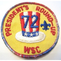 President'S Round-Up Wsc 1972 Gauze Backing Bsa Boy Scout Bsa Vintage Patch