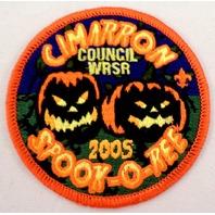 Bsa Boy Scout Uniform Patch Cimarron Council Wrsr 2005 Spook-O-Ree Usa  #Bsor