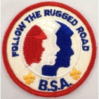 Bsa Boy Scout Uniform Patch Follow The Rugged Road Bsa  #Bsrd