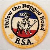 Bsa Boy Scout Uniform Patch Follow The Rugged Road   #Bsyl