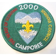 2000 Sequoia Council Heart Of Scouting Oversized Bsa Boy Scout Uniform Patch