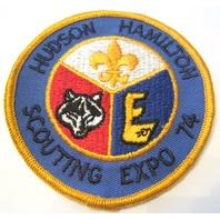 Hudson Hamilton Scouting Expo 74 Oversized Bsa Boy Scout Uniform Patch