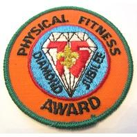 Physical Fitness Award Diamond Jubilee 75 Years Uniform Boy Scout Patch Bsa