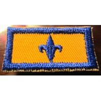 Bsa Boy Scout Uniform Patch Blue And Yellow Fleur Di Lis Bar Patch