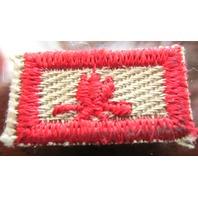 Bsa Boy Scout Uniform Patch Webelos Campfire Bar Red Khaki