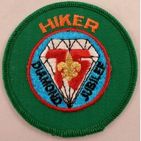Uniform Patch Boy Scout Bsa Hiker Diamond Jubilee 75Th Anniversary  #Bsgr