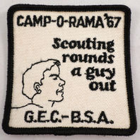 Uniform Patch Boy Scout Bsa Scouting Rounds A Guy Out 1967  #Bsbk