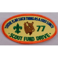 Uniform Patch Boy Scout Bsa Scout Fund Drive No Such Thing As Free Lunch #Bsor
