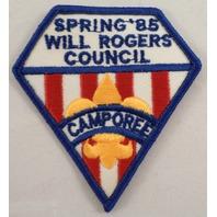 Uniform Patch Boy Scout Bsa Spring Will Rogers Council 1985 #Bsbl