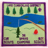 Uniform Patch Boy Scout Bsa Lake Cumberland Dist 1996 Spring Camporee #Bspp