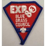 Uniform Patch Boy Scout Bsa Scouting Expo Blue Grass Council 1983  #Bsbl