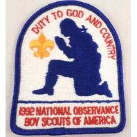 Uniform Patch Boy Scout Bsa Duty To God And Country National Observance #Bsbl