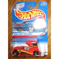 Hot Wheels 1999 First Editions-#8-Sem I-Fast-Red #914