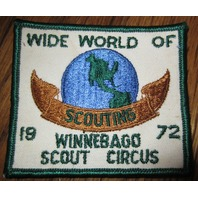 Boy Scout Patch Vintage Winnebago Scout Circus 1972